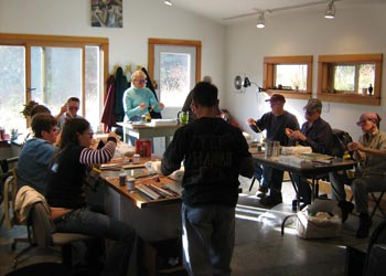 Wesley Fleming teaching at Bear Canyon School of Art and Craft