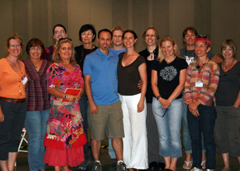 Workshop group from 2010 International Society of Glass Beadmakers Conference