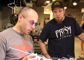 Demonstrating at Prism Glassworks in Troy NY, 2012
